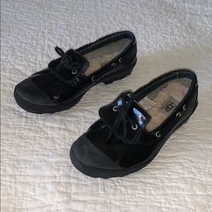 Ugg Australia Black Patent Ashland Duck Shoe US 8